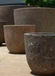 Old Stone Garden Urns