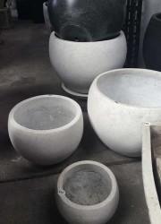 concrete terrazzo pots