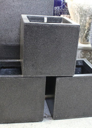 Fibreglass pots - square