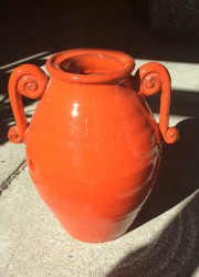 Glazed decorative pot